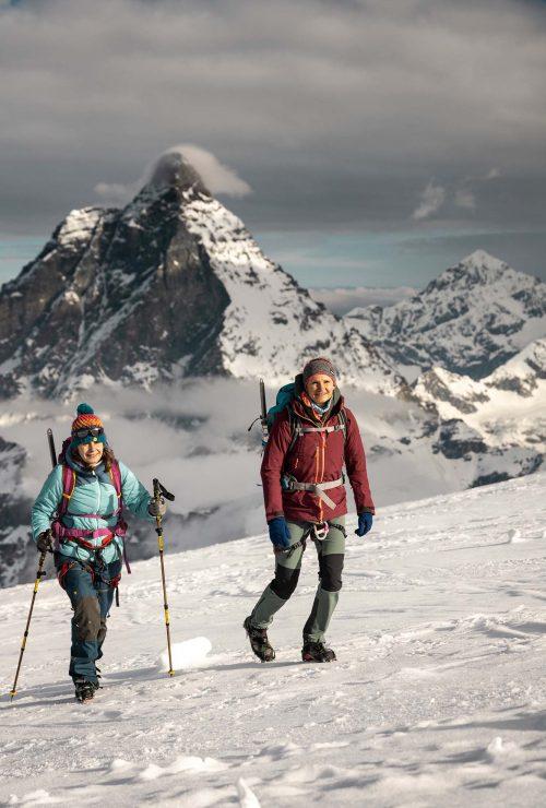 Hochtour in der Kulisse des Matterhorns