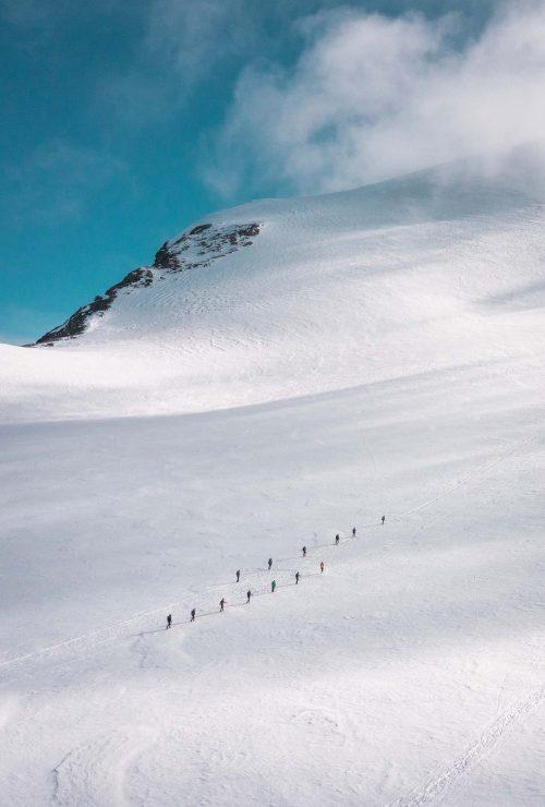Über den Gletscher zum Breithorn